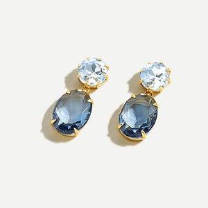 New J Crew Blue Oval Drop Earrings